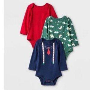 Baby Boys 3pk Long Sleeve Body suits